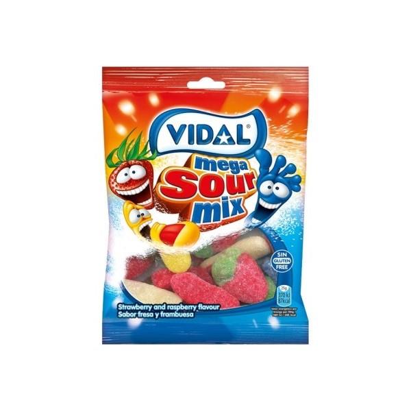 Gomas Mega Sortido Acido Vidal 100Gr