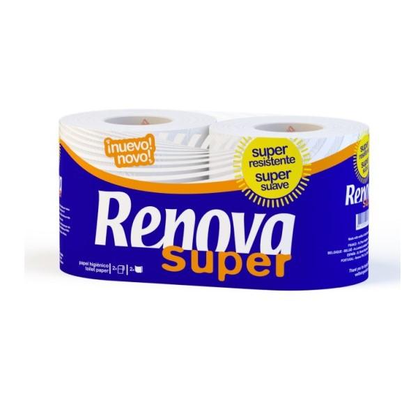 Papel Higiénico Super 2Rolos Branco Renova