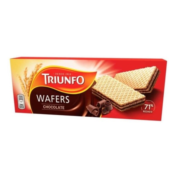 Bolacha Wafer Chocolate Triunfo 146Gr