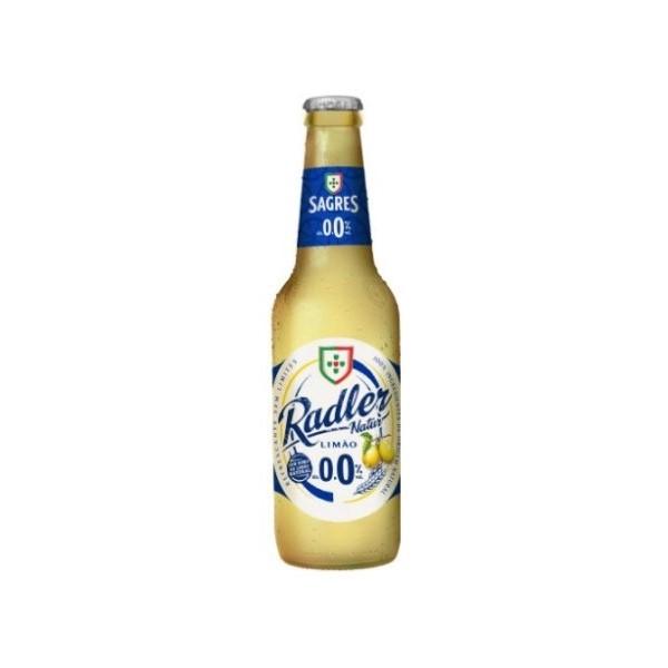 Cerveja Sem Álcool Sagres Radler 0.0% Garrafa 33Cl