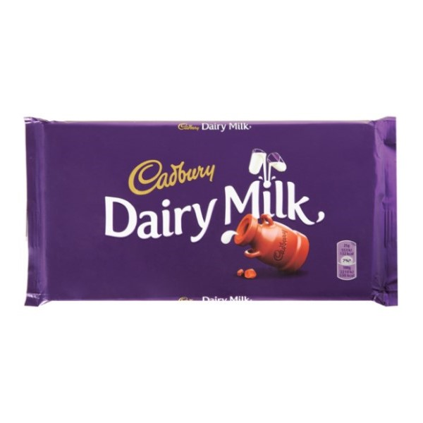 Tablete Chocolate Dairy Milk Leite Cadbury 110Gr