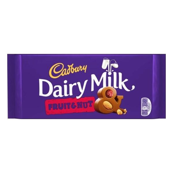 Tablete Chocolate Dairy Milk Fruit&Nut Cadbury 110Gr