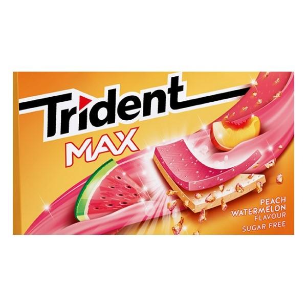 Trident Max Peach Watermelon 23Gr