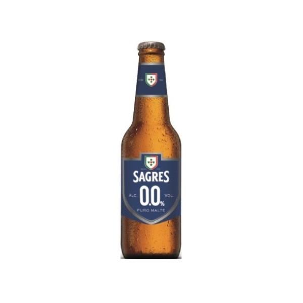 Cerveja Sem Álcool Sagres 0.0% Garrafa 33Cl
