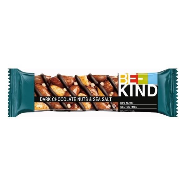 Barras Cereais Chocolate Negro e Sal Marinho Kind 40Gr