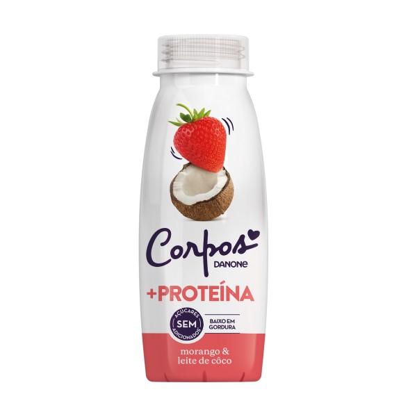 Iogurte Líquido Morango e Leite de Côco Corpos Danone 245GR