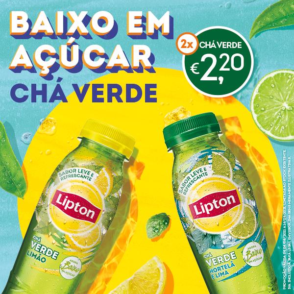 2 Lipton Chá Verde 33 Cl à escolha